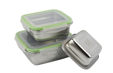 quare stainless steel lunch box oem