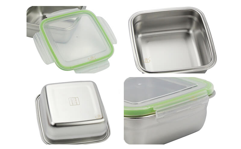 quare stainless steel lunch box factory