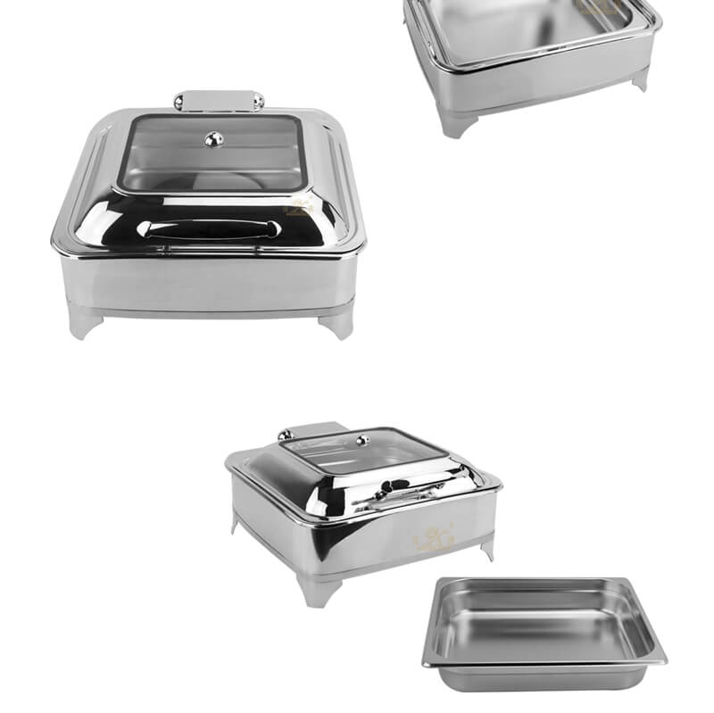 chafing dish square, export keep warm pot factory