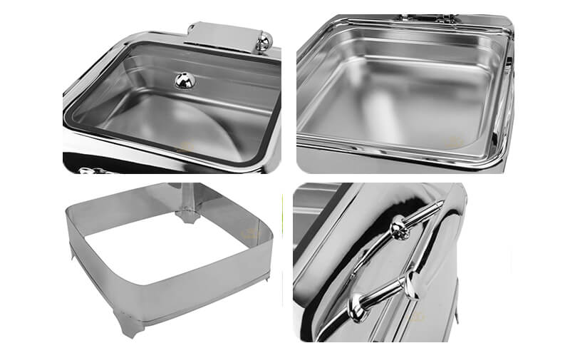 chafing dish square, export keep warm pot ODM