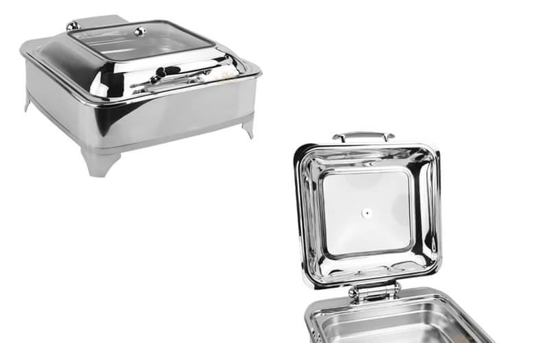 chafing dish square, export keep warm pot supplier