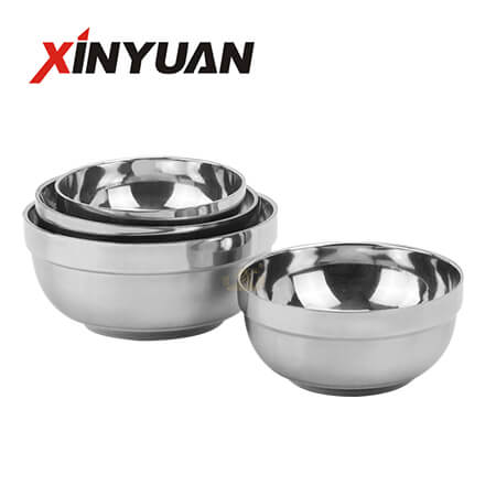 Double wall rice bowl made of stainless steel insulation ball bowl manufacturers
