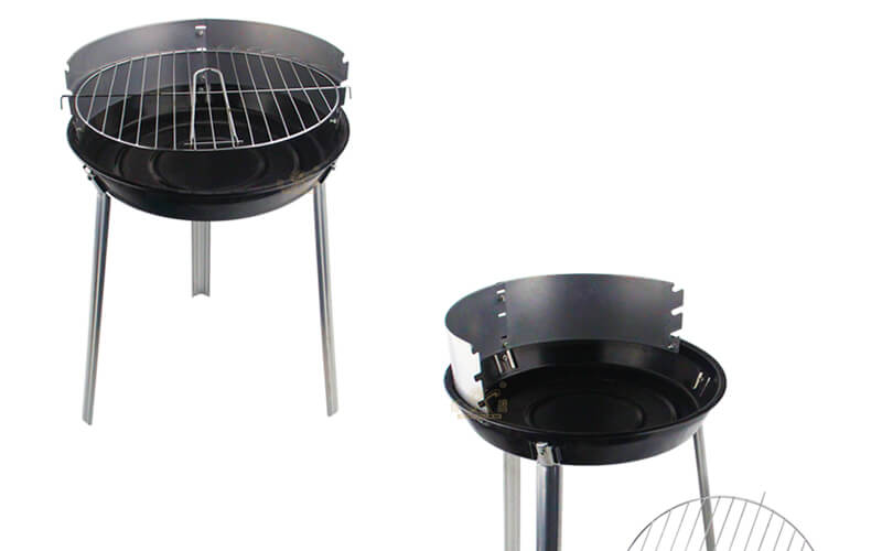folding round barbecue grill export BBQ grill factory