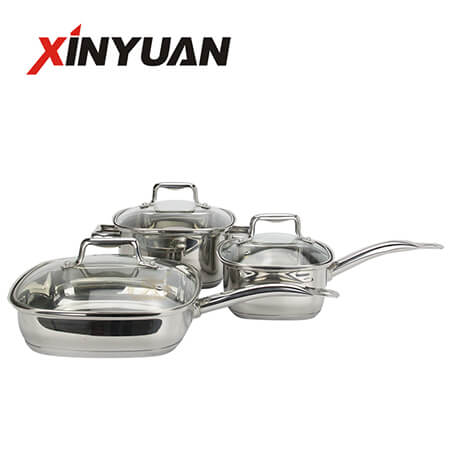 Kitchenware cooking set of stainless steel 3pcs kitchen pan export excellent quality