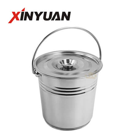 Multi-Purpose Barrel Stainless Steel Material High Quality Bucket with Cover FT-02613