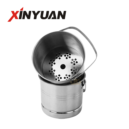 Small beer bucket of stainless steel factory wholesale ice bucket with handle
