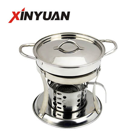 Small buffet stove with exquisite design and high quality stainless steel stove with hot pot