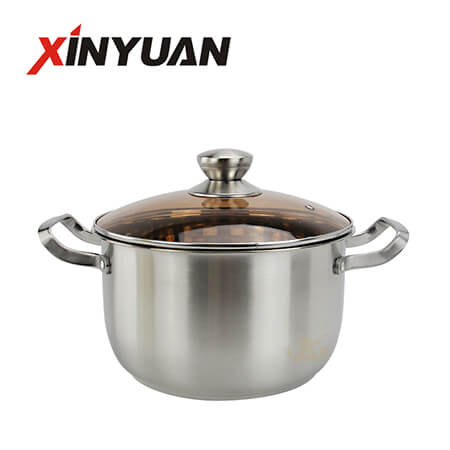 Soup Pot Steel Handle Quality Stainless Steel Kitchen Soup Pot Wholesale Kitchenware FT-01616-B