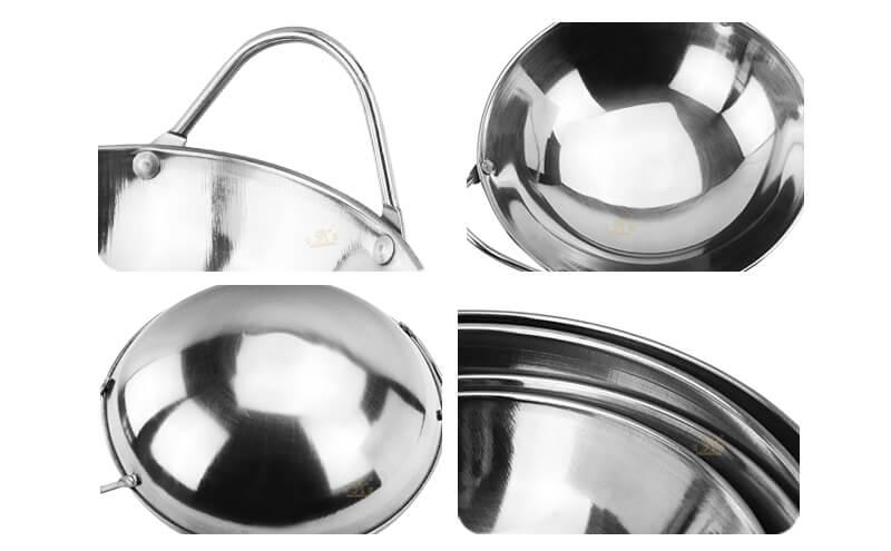 steel serving wok bar export mini pot oem
