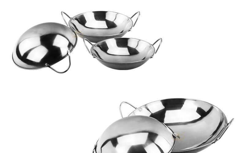 steel serving wok bar export mini pot supplier