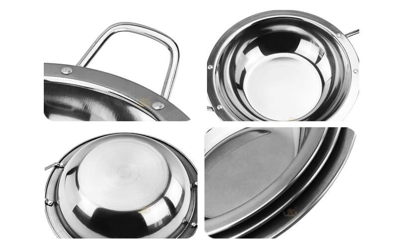 steel small dry pot export bar service pot ODM