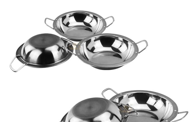 steel small dry pot export bar service pot factory