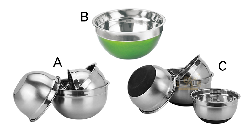 stainless steel tools salad bowl factory