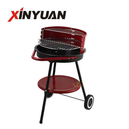 Iron round barbecue grill new promotional product iron portable outdoor BBQ