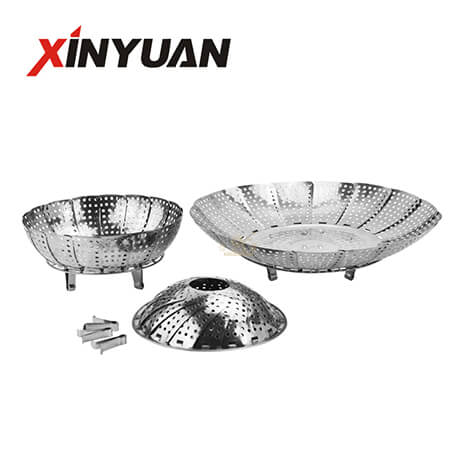 Multifunction Steamer Plate of Stainless Steel Folding and Folding Steaming Fruit Plate Disk FT-03507