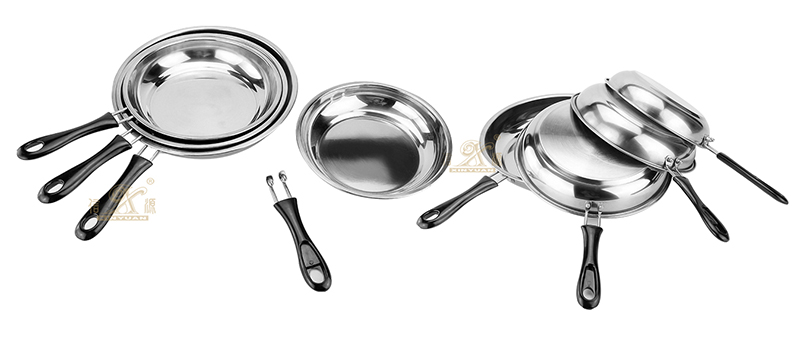 stainless steel Fry pan cooking pot