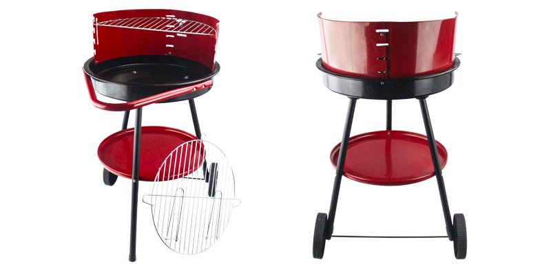 Iron round barbecue grill factory