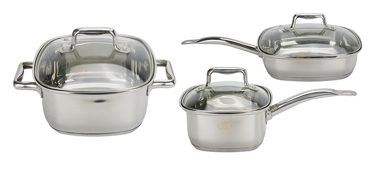 stainless steel kitchenware cooking 3 set