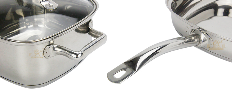 stainless kitchenware cooking 3 set factory