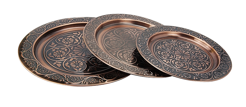 stainless steel round serving tray supplier