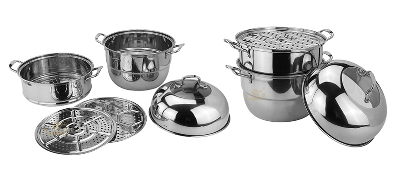 stainless steel 3 layer steamer pot factory