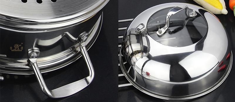 stainless steel 3 layer steamer pot supplier