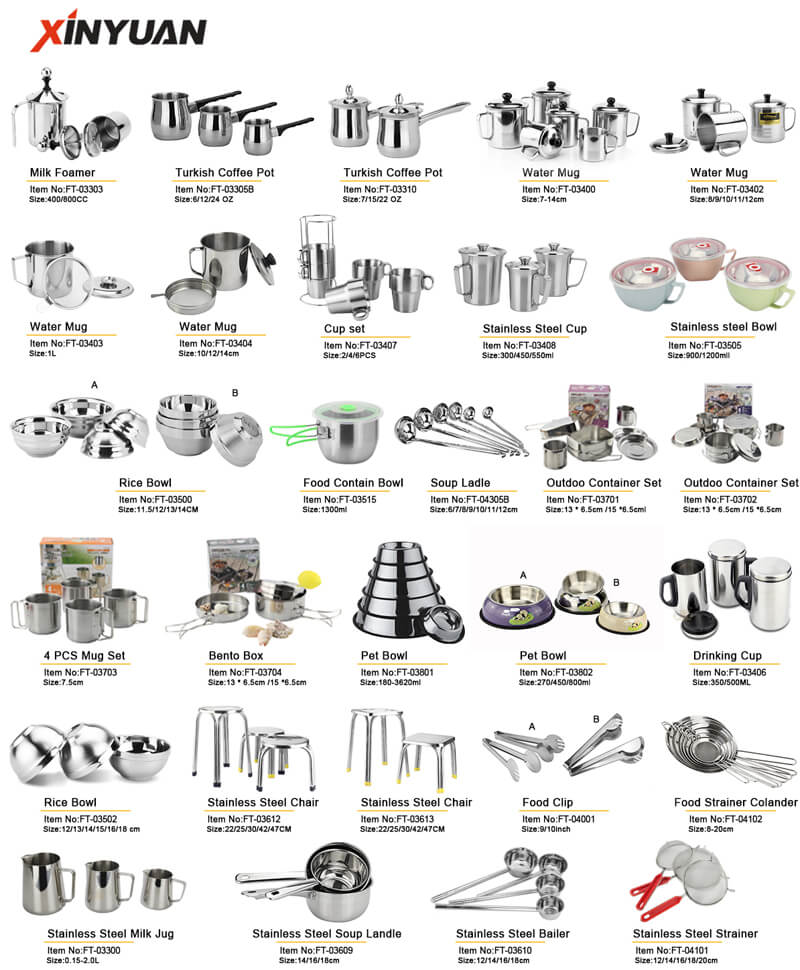 kitchenware sstainless steel export OEM
