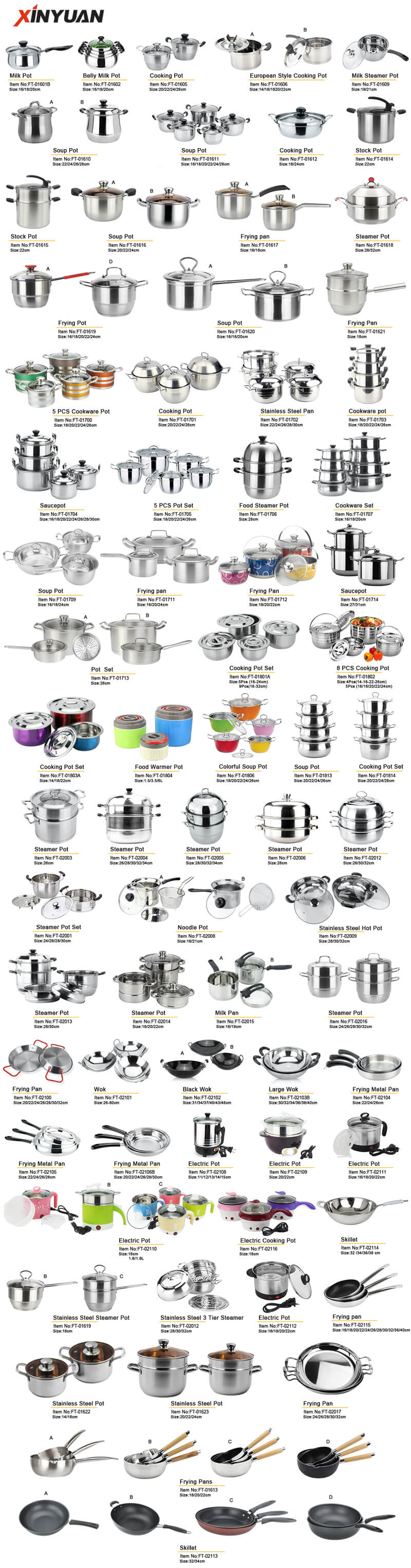 cooking pot stainless steel manufacturer