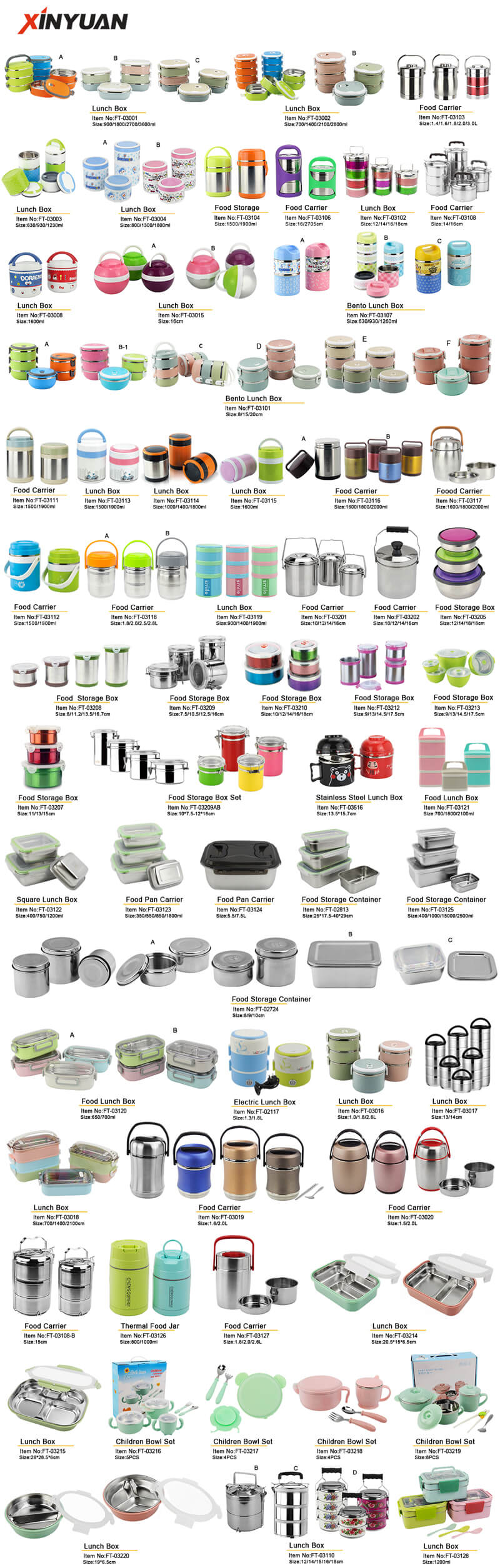 lunch box Product Catalog stainless steel