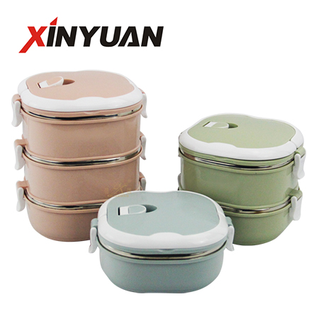 lunch containers portable stainless steel thermal insulated bento 1/2/3 layer free combined Amazon hot sale