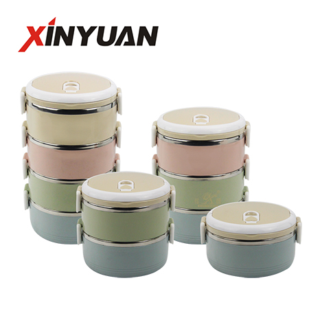 multilayer lunch box container stainless steel 1/2/3/4 layer food storage student school supplier