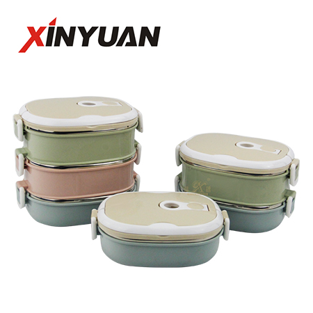 lunch box 1 2 3 layer stainless steel new hot insulated container portable for school camping supplier