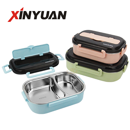 Office school bento box 304 stainless steel food carrier for adults 2 / 3 / 4 / 5 compartment supplier