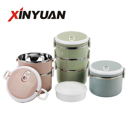 lunch bento 3 layer stainless steel children picnic container school food box for customization logo