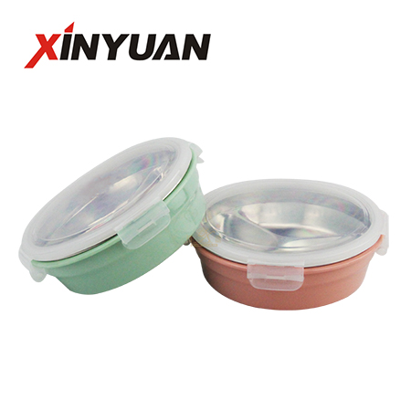lunch box 2-3 grid 304 stainless steel round thermal bento box for picnic office microwave oven factory