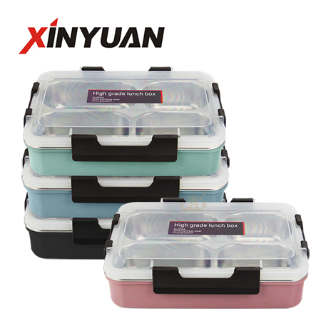 Bento lunch box tray stainless steel 304 insulation food container of 3/4/5 compartment keep warm supplier