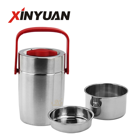 Vacuum lunch container stainless steel 304 thermos food box leak-proof school lunch jar supplier 1.8/2.0/2.6 L