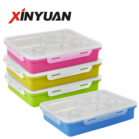 Lunch box 5 compartment stainless steel 304 portable picnic food container school insulation supplier
