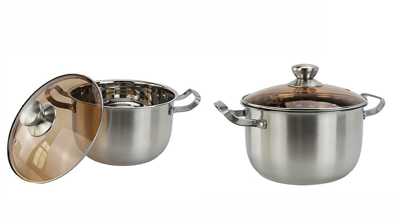 Soup pot steel handle odm stainless steel