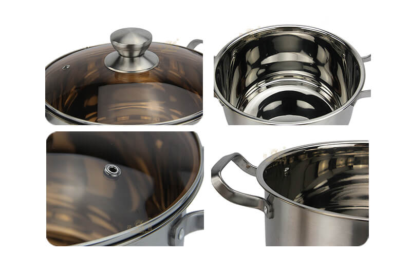 Soup pot steel handle OEM stainless steel