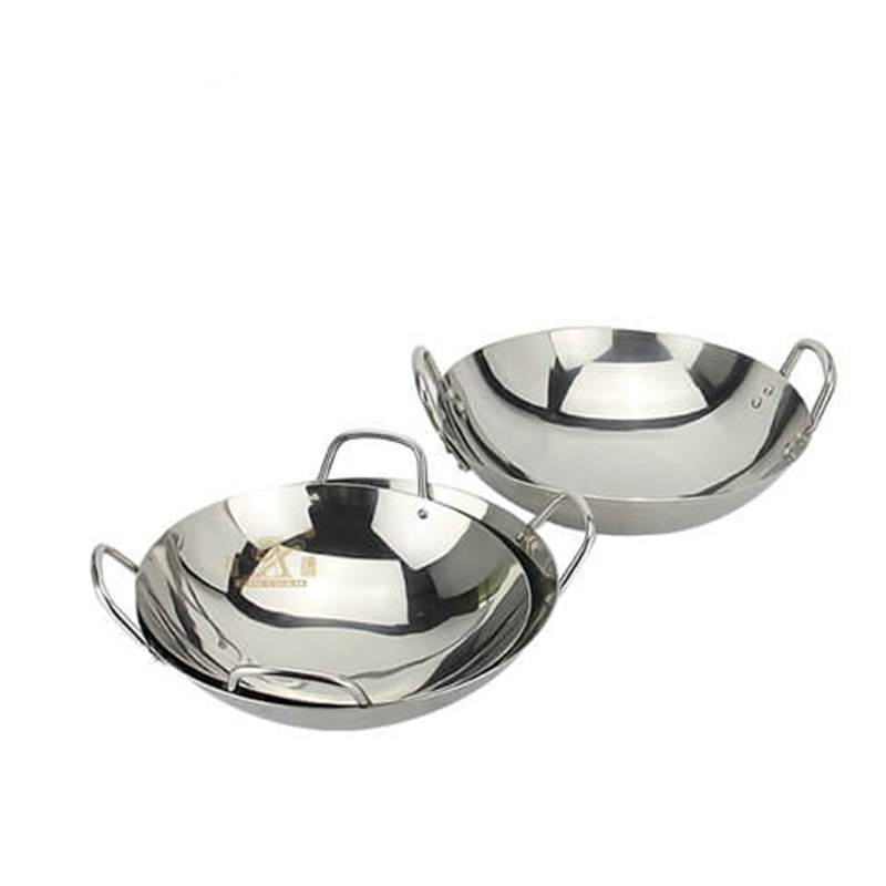 Stainless steel paella pan stir wok !