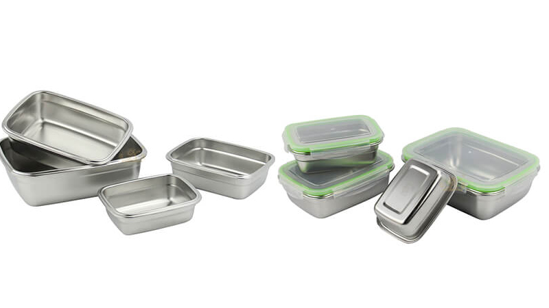 food steel pan containers OEM stainless steel