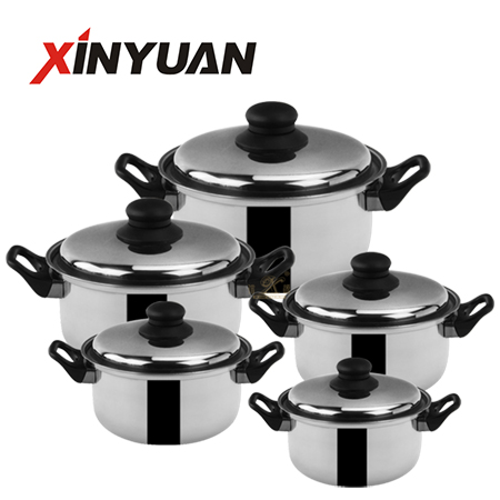 Soup pot set of stainless steel with cheap price FT-02301