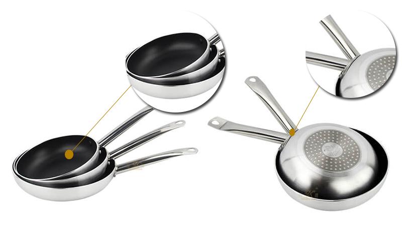Fry pan wok ODM stainless steel