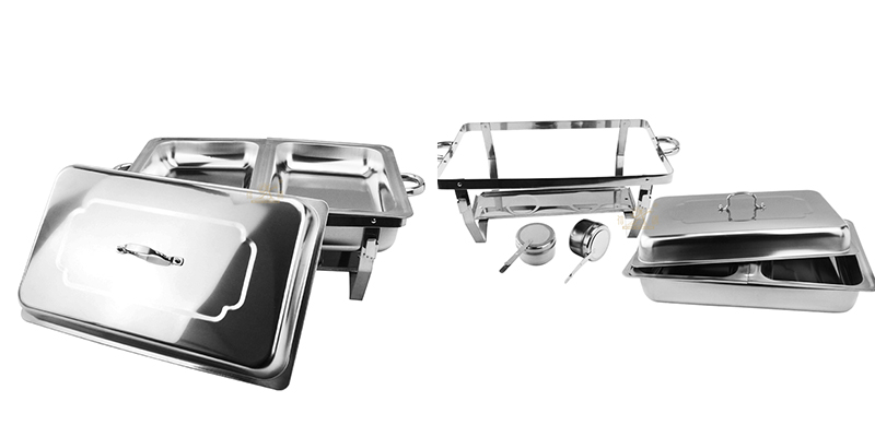 folding chafing dish OEM stainless steel