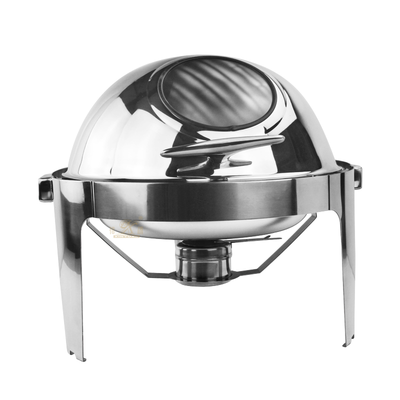Roll top chafing dish is a  is used to serve food in gatherings!