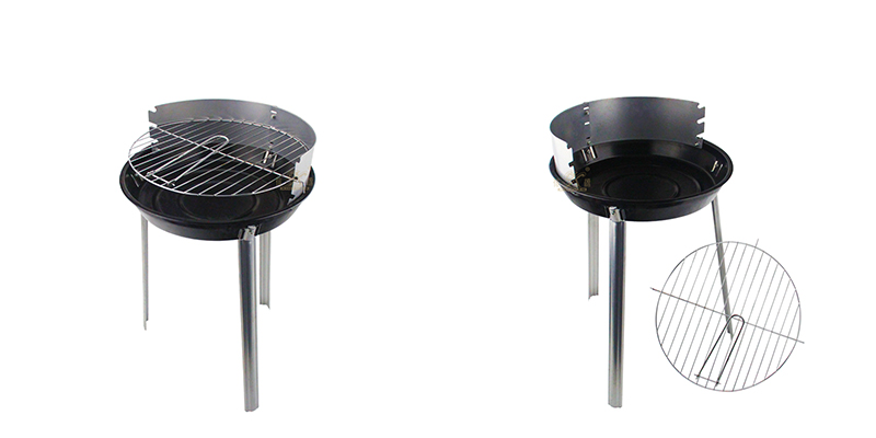 Iron folding round barbecue grill ODM supplier