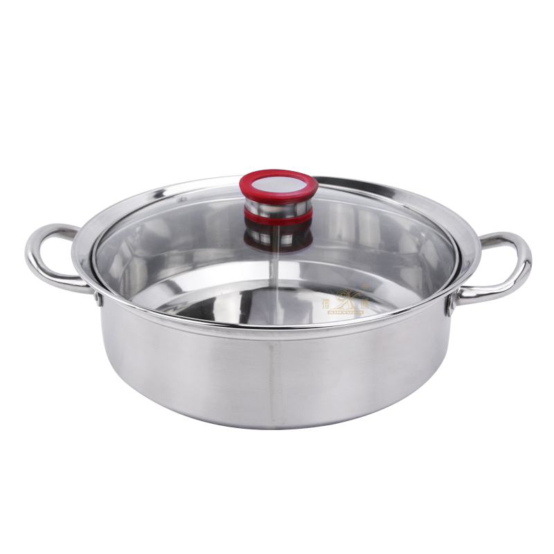 Shabu pot Dual Hot Pot Cooker 30/32 cm Duck Pot Kitchen Casserole Soup Cooking Tool Stainless Steel Dual Hot Pot Induction Hob Shabu