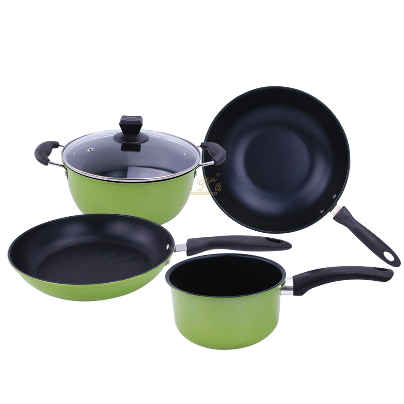 Non Stick Pot Saucepan Frying Cookware Set Pan 4 Piece Stock Pot Saute Pan Saucepan Glass Lid Induction Nonstick