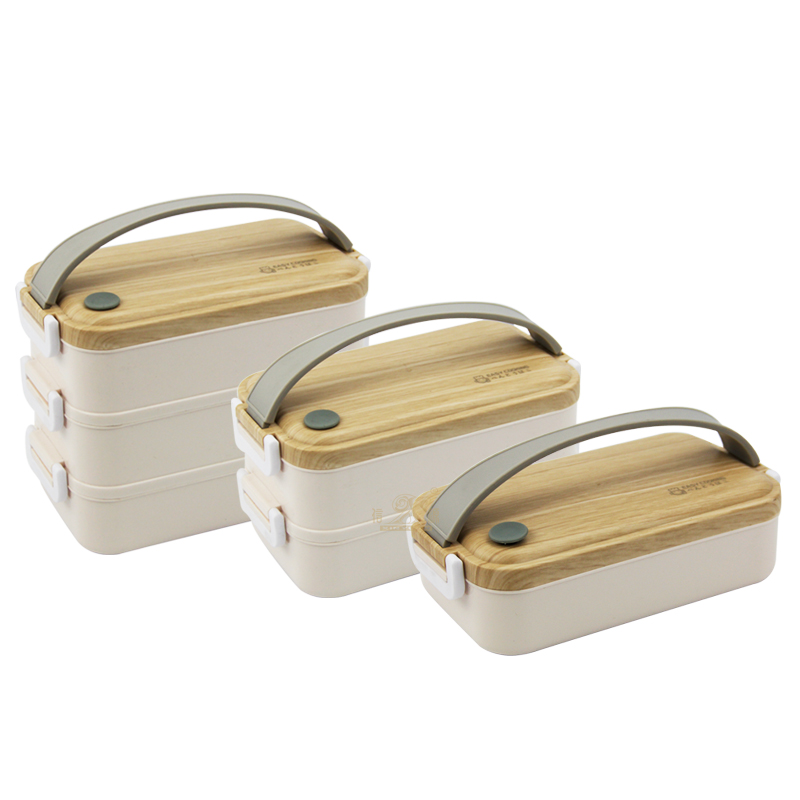 Fashion Natural insulated lunch box Stainless steel Nordic tiffin